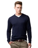 Wholesale Toms Style - Trade 2017 New Autumn Winter Tom Fashion Mens Casual Sweaters Solid American Men Pullover Knitted Sweater Knitwear