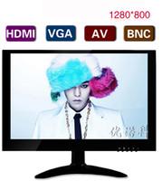 Wholesale Bnc Vga Free Shipping - Free shipping! OEM 10 inch hdmi led monitor with AV   USB  BNC VGA in 1280x800 IPS TFT LED panel