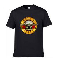 Wholesale n 3d - Black Fashion Summer 3D Printed Mens GUNS N ROSES Printed Cotton T shirt Short Sleeve Casual Hip Hop Rock Top Tees Plus Size