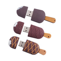 Wholesale Memory Stick Flash 4g 8g - 100% real capacity Ice Cream USB flash drive pen drive 64G 32G 16G 8G 4G pen drive pendrive storage u disk memory stick