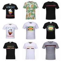 Wholesale Painting Tee Shirts - summer new women and men's t-shirt fashion Sweatshirts short sleeve snake printing t shirt Brand G Men's Polos Unisex Tops Tees 20 styles