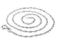 """Wholesale Wholesale Rhodium Plated Jewelry - 2017 New Imitation Rhodium Plated 16"""" 18"""" inch Water wave chain clavicl Chains Necklace for DIY jewelry"""
