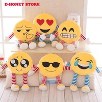 Wholesale Stuffed Gags - 55cm Creative Different Facial Expression Face Stuffed Plush Toy Doll Novelty Gag QQ Emoji Pillow Cushion Girl Car Decor
