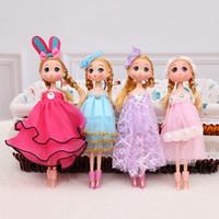 Wholesale Dolls Wedding Dresses Wholesale - Hot selling Cute Wedding Dress Ddung Doll Keychain Pendant Fashion Popular 25CM Gum Dolls Girl Toys good Christmas gifts for girl Plush Toys