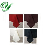 Wholesale Embroidery Dining Table Covers - Christmas Tablecloths wedding embroidery Table cloth Polyester 140cm*180cm solid colors red dining table covers Banquet Holiday decoration