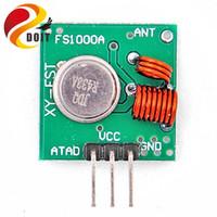 Wholesale Arduino Rf Transmitter Receiver - Wholesale- Original DOIT Free Shipping 1 Pair 433Mhz RF Transmitter and Receiver Module Link Kit for Arduino ARM MCU WL DIY Electronic Kit