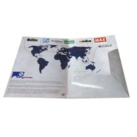 Wholesale Cheap Folders - A4 paper presentation folders with pockets Custom design presentation folders full color printing Cheap price display folders for documents