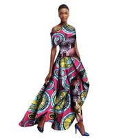 Wholesale Ankara Dresses - 2017 Spring Ankara Fashions Traditional African Clothing for Women Long Dresses + Long Pants Originality Women Pants Suit WY1364