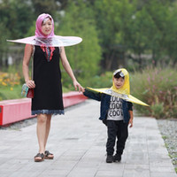 Wholesale Child Transparent Umbrella - UFO Cap Transparent Creative Personality Fishing Golf Rain Umbrella Cover Outdoor for Kids Children Students 7 2zc H1 R