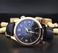 Wholesale Cow Leather Watches - High quality fashion classic men's wrist watch Twenty-four hours wear mirror shows minerals Import cow leather belt JG