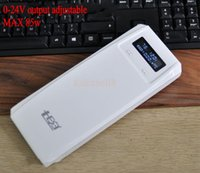 Wholesale Laptop Cell Phone Battery External - Wholesale-0-24v 5v 12v 19v 85W External Power Bank Backup 18650 Battery Charger For Cell Phone laptop tablet