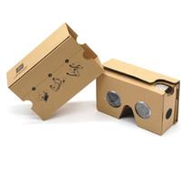 iphone de los vidrios 3d de la cartulina al por mayor-DIY Google Cardboard 2.0 V2 Gafas 3D Cajas VR Visualización de realidad virtual Google Versión II Gafas de papel para iphone x 6S 7 más Samsung s9