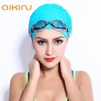 Wholesale Silicone Swim Caps Wholesale - Wholesale- High-grade Silicone Waterproof Adult Swimming Cap X66
