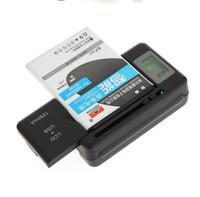 universal-ladegerät lcd großhandel-Universal-intelligenter USB-LCD-Anzeigen-Wand-Reisebatterieladegerät für iphone Samsung HTC LG-Handy mit usb-Ausgang Ladegerätanschluss