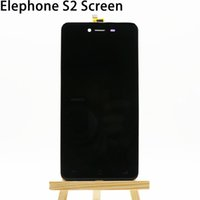 Wholesale Touch Screen Iphone S2 - Wholesale- Elephone S2 S2 Plus LCD Screen New Original lcd display+Frame+Touch Panel Replacement For Elephone S2 S2Plus Code:FPC5045-14