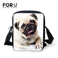 Wholesale 3d printing camel - Wholesale-2016 New Brand Mini Girls Messenger Bags 3D Animal Pug Dog Printing Shoulder Bag Ladies Spain Bag Small Women Messenger Bags