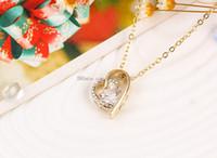 Wholesale Korean Diamond Necklace - 2017 hot necklace love zircon pendant simple Korean version of the necklace burst necklace jewelry wholesale free shipping DHL