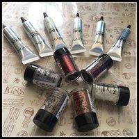Wholesale Eyeshadow Primer Set - NYX face and body glitter with primer set glitter primer Foundation Primer for eyeshadow fllash powder cosmetics makeup DHL