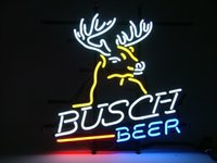 Wholesale busch light beer neon sign resale online - Fashion New Handcraft BUSCH BEER Light Real Glass Tubes Beer Bar Pub Display neon sign x15