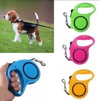 Wholesale Extending Leash - Retractable Dog Leash Flexible Dog Leashes 3M 5M Traction Rope Extending Puppy Pet Walking Leads Leash OOA2292