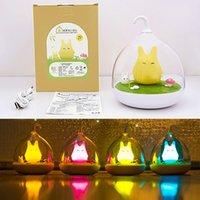 Wholesale Wholesale Birdcage Decor - Wholesale- Lovely LED Birdcage Totoro Light USB Cartoon Night Light Touch Sensor Animal Hanglamp Baby Child Nightlight Bedroom Lamp Decor