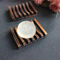 ingrosso sapone dell'annata-10 pezzi Vintage portasapone portatovaglioli in legno portasapone in legno Bathroon doccia lavaggio a mano