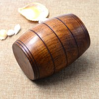 Wholesale Keg Barrel - Creative wooden keg drinking cup Individual small capacity wooden barrel cup The Nordic cask wood cup wa4025