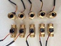 """Wholesale Flow Rate Sensors - Wholesale- 10pcs  lot 3 4"""" DN20 Hall Turbine flow sensor meter switch control rate"""