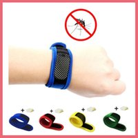 Frete Grátis Mosquito Insect Repelente Band Braceletes Anti Mosquito Pure Natural Bebé Wristband Hand Ring 112904