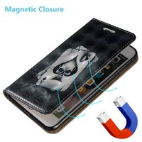 Wholesale Magnetic Stylus - Magnetic Closure Skin Case For LG G4 Stylus LS770 Huawei P8lite P8 Mini P9 Lite 3D Shell PU Leather Stand Wallet With Card Slots Rope Cover