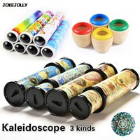 Wholesale Wholesale Kaleidoscope Toy - Wholesale- 3 Kinds Rotating Kaleidoscopes Magic toy Colorful World Preschool Toys Educational Science toys Best Gifts for kids GYH