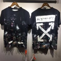 Wholesale Best T Shirt Men - New Arrival OFF WHITE Starry Sky T-Shirt Cotton Making-replica Men's T Shirts Casual Hiphop Short Sleeves Best Quality Tees Free Shipping