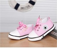 Wholesale walker classic online - New classic canvas shoes for children infant Cotton Walkers Girls boys Casual Shoes