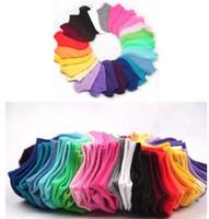 Wholesale Thin Ladies Socks - ankle socks 50pcs High Quality Women Cotton Sweet Ship Socks Short Girl Invisible Socks Thin Ankle Sock For Ladies Wholesale Y191