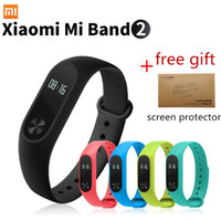Wholesale Oled Watches - Wholesale- Original Mi Band Xiaomi Mi Band 2 Smart Fitness Bracelet watch Wristband Miband OLED Touchpad Sleep Monitor Heart Rate Miband