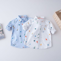 Wholesale Sail T Shirt - Autumn 2017 Girls and Boys Shirt Sailing Printed Children Shirts kids Shirt baby Long Sleeve T Shirts Toddler Tops Child Clothing A725