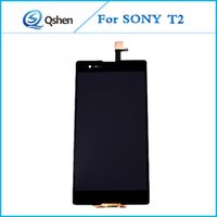Black Lcd para SONY T2 Lcd Assembly Touch Screen Com Digitizer Display substituição Celular Lcd