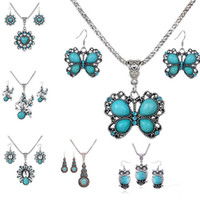 Wholesale Peacock Collar Necklace - Jewelry Sets Acrylic Owl Peacock butterfly Necklace Earrings Bird Choker Collar Fashion Jewelry News Spring Women Girl Gift