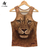 Wholesale Tank Top Leopard Print Man - Wholesale- 2017 Summer Fashion Animal Vest Tank Top Men 3D Stereo Print Wolf Tiger Leopard Gorilla Mens Casual Sleeveless Funny Tops LW364