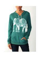 Wholesale Elephant Print Hoodie - 2016 Spring Autumn Fashion Women Hoodies Long Sleeve Elephant Print Sweatshirt Casual Harajuku Women Pullover Basic Hoodies