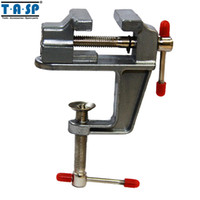Wholesale Aluminium Crafts - TASP Hand Tools Aluminium Table Vise with Clamp for Jewellers Hobbyists Crafts Model Building