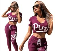 Último Diseñador 2 Set Mujeres Fitness Outfit Top Mujer Sudadera Pantalones Piece Set Track Traje Chándal Señoras Chándales
