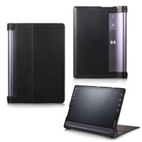 lenovo cubiertas abatibles al por mayor-Funda protectora de tableta de 10.1 pulgadas para Lenovo Yoga Tab3 Plus 10.1 YT-X703 Flip Funda de cuero PU para Lenovo Yoga TAB 3 X90F / LHo