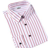 Wholesale Men Slim Shirts China - Wholesale- T china cheap wholesale 2016 Summer new hot sale men fashion stripe long-sleeve shirt slim casual tide male shirt