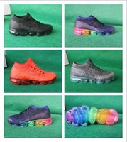 Wholesale Leather Shoes Discount Sale - Wholesale with best quality OG Vapormax white black Hot Sale Women Men running Shoes sports sneakers Discount Outdoor trainers 2018