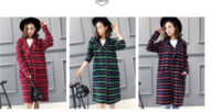 Wholesale Cheap Woolen Coats Women - Hot Selling Cheap Autumn,Wool loose Long Sleeves Knitted Sweater Coat Tartan Red Green Navy blue