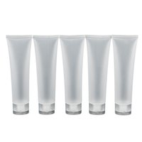 Wholesale tubes cosmetic containers - Wholesale- Travel Empty Clear Tube Cosmetic Cream Lotion Containers Refillable Bottles 20ml  30ml  50ml  100ml 5pcs lot