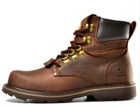 Wholesale tooling boots fashion - men Martin boots. Fashion first layer of leather men's boots, high-quality tooling boots man, botas hombre