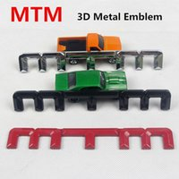 Wholesale Car Tuning Emblem - MTM 3D Metal Emblem Car Stickers Auto Tuning Styling Exquisite Smooth 3M VHB TAPE For Volkswagen Audi 16*2.2cm D5