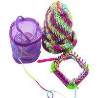 Wholesale Plastic Bag Yarn - New fashion color mesh Bag is hollow-out DIY tools Knitting Yarn Round Plastic Bags Portable Lightweight and Easy to Carry for Yarn